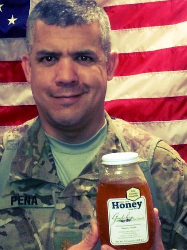 Major Peña in Afghanistan with GBR honey