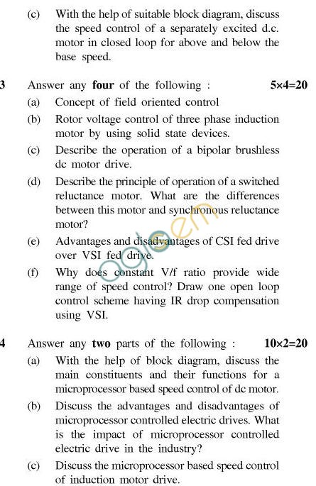 UPTU B.Tech Question Papers - EE-022-Solid State Control of Electric Drives