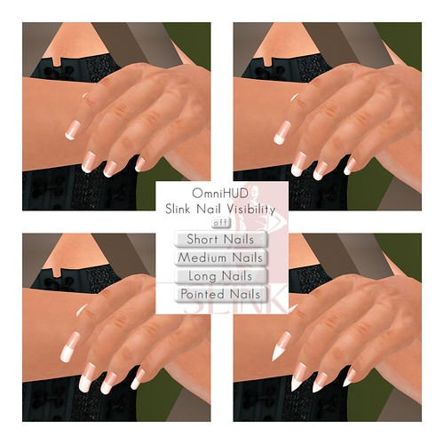 Slink Hands NEW Nail Lengths (Only works with Avatar Enhancement System) Updates Available see blog for info