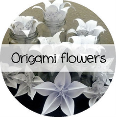 Origami Flowers button