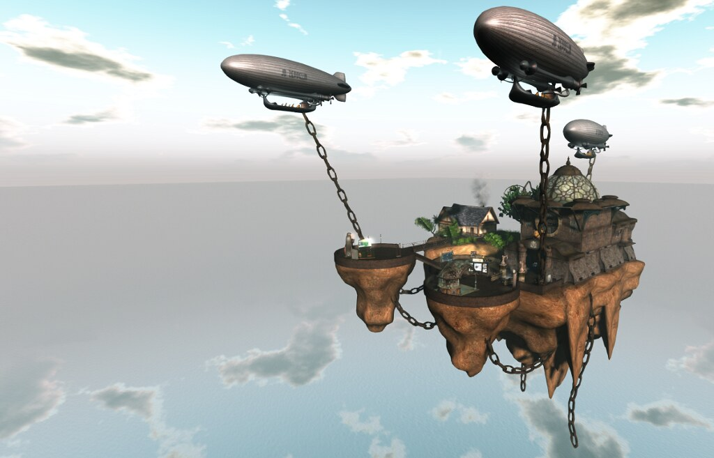 The floating island at Forgotten City