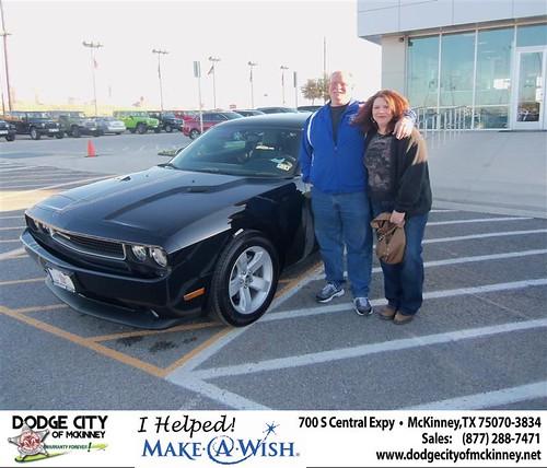 Congratulations to Eric Peterson on the 2013 Dodge Challenger by Dodge City McKinney Texas