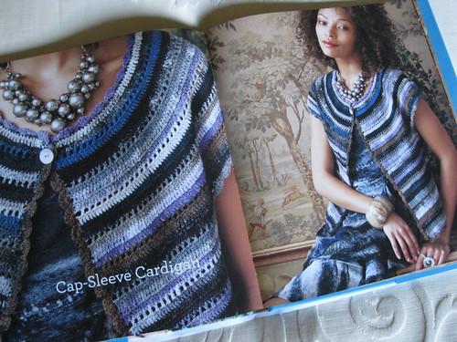 Crochet Noro - Cap-Sleeve Cardigan