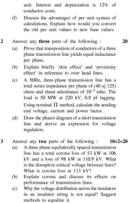 UPTU B.Tech Question Papers - EE-602-Elements of Power System