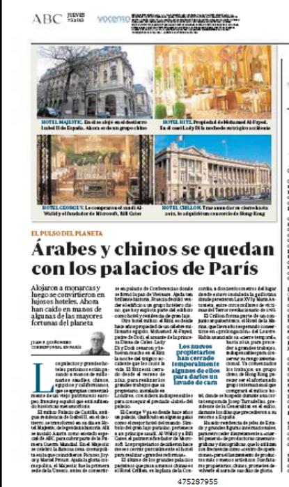 13c07 Árabes y chinos se quedan con los palacios de París