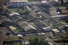 Rundown residential district in Pyongyang