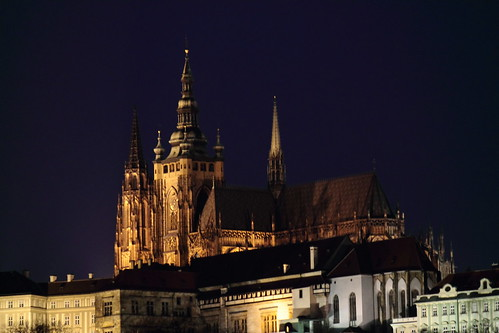 St Vitus Cathedral by night