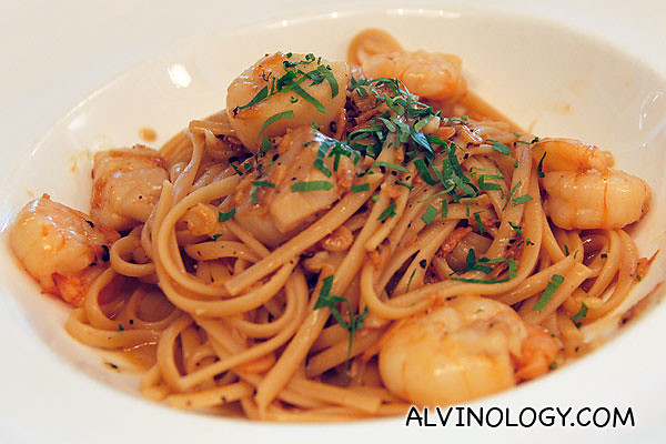 Seafood linguini at The Marmalade Pantry @ Stables