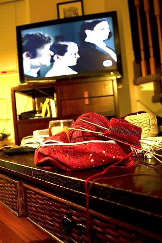 Feb6-TVknitting