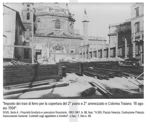 ROMA ARCHEOLOGIA: Metro 'C' S14 / B1 - Pz. Venezia & Pz. Madonna dei Loreto (Scavi 2007-13): ex-Pal. Parracciani-Nepoti & ex-L'Opedale dei Fornari (18/08/1904). by Martin G. Conde
