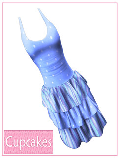 Cupcakes - KawaiiDress-Blue - My Attic @ The Deck