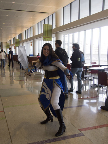 Cosplayer in the Food Court