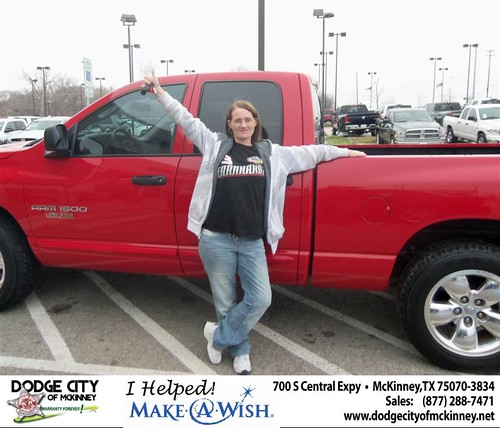 Congratulations to Frances Stephens on the 2005 Dodge Ram by Dodge City McKinney Texas