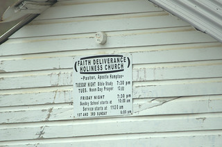 Faith Deliverance Holiness Church Sign