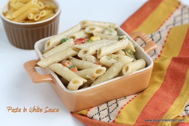 pasta in white sauce 2