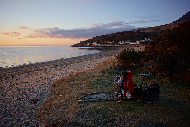 Arran wild camp sunrise