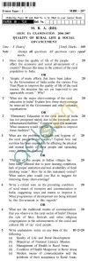 UPTU MBA (RD) Question Papers - MBR-207-Quality of Rural Life & Social Advancement