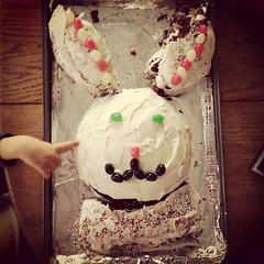 #bunnycakefail #littlehelpinghands @kamccart0927