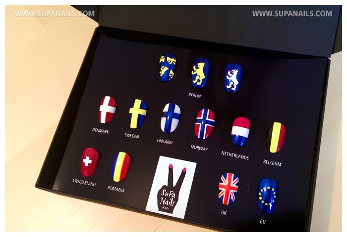 Eddie Izzard European Tour Flag Nails