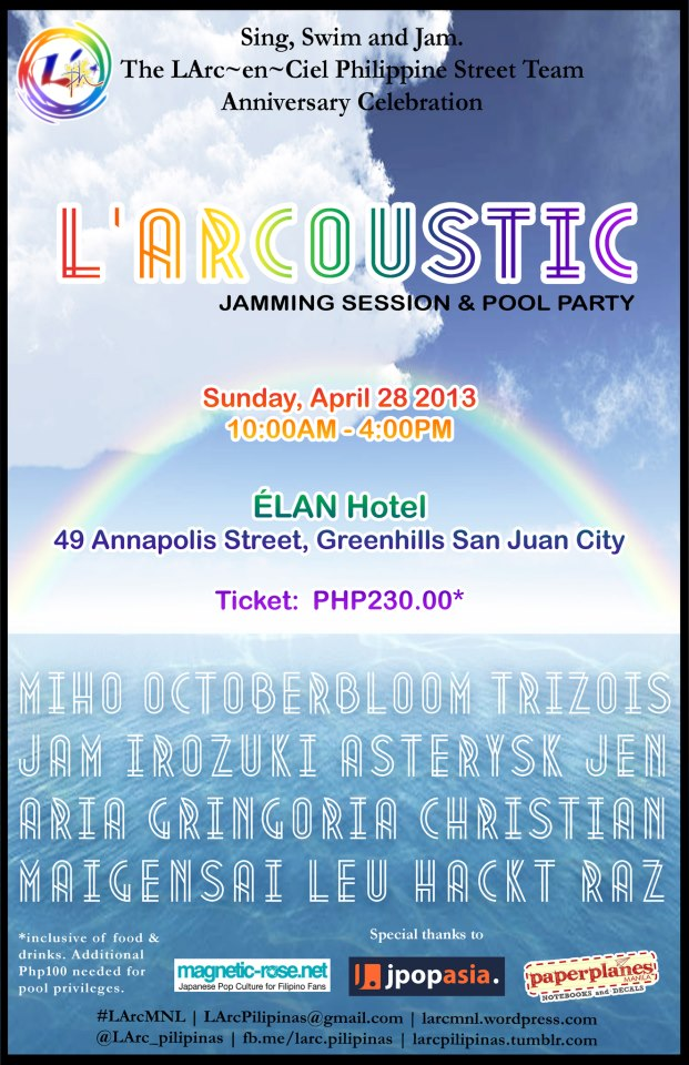 L'Arcoustic Jam Session and Pool Party