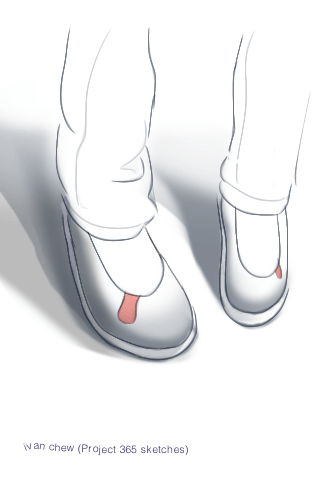 """Cute Shoes"" (#39: Project 365 Sketches)"