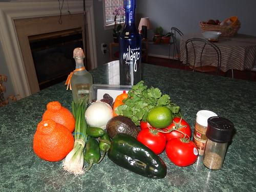 National Margarita Day meal ingredients.