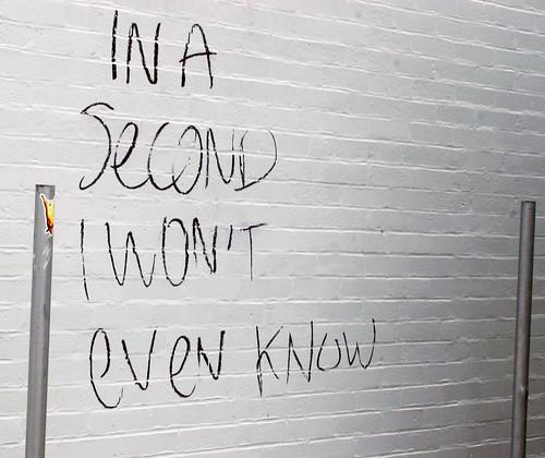 graffiti: In a second