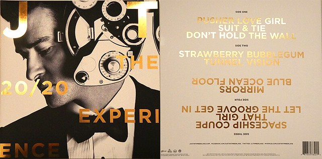 the 20/20 experience vinyl front and back