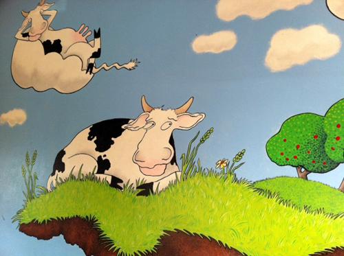 Cow mural detail