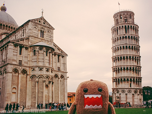 domo and the sorta-leaning tower of pisa