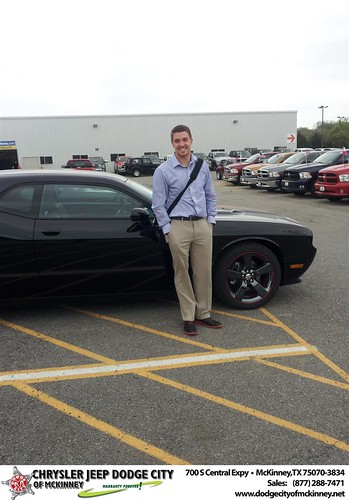Dodge City of McKinney would like to say Congratulations to Peter Morrissey on the 2013 Dodge Challenger by Dodge City McKinney Texas