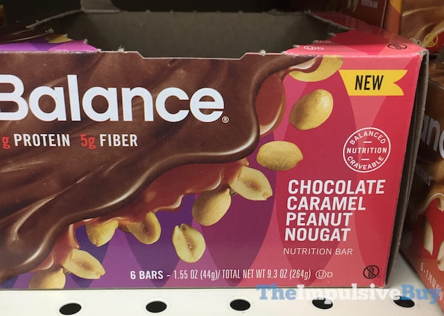 Balance Chocolate Caramel Peanut Nougat Nutrition Bar
