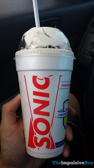 Sonic Blast made with Reese's Peanut Butter Cups & Peanut Butter Flavor Funnel