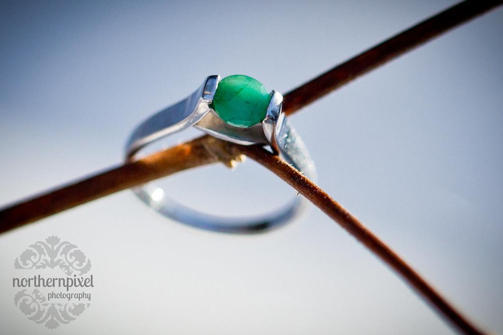 Custom Emerald Engagement Ring Prince George BC