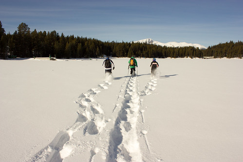 Snowshoeing Lake