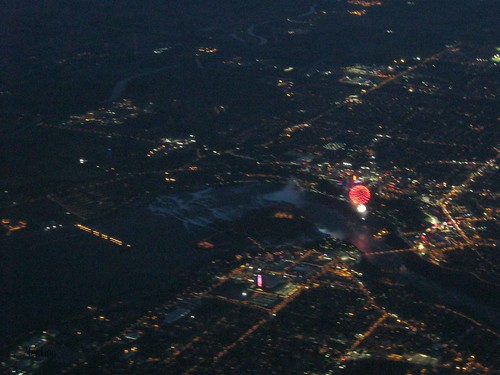 Fireworks from the plane