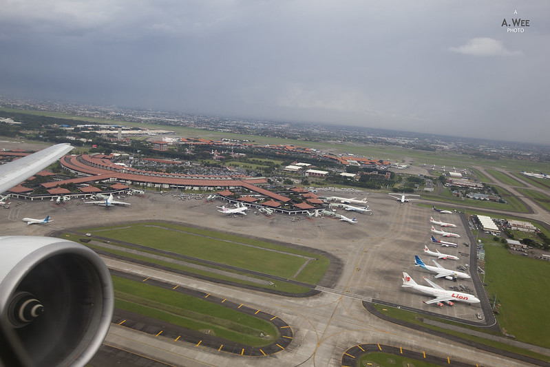 Take-off from Jakarta