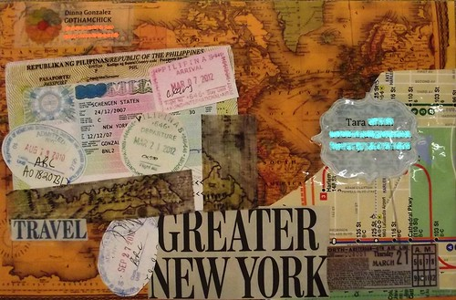 Mail Art: Travel (Decorated envelope - Front)