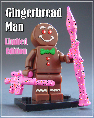 Gingerbread Man Limited Edition figure - available to Pigs vs Cows pledges.