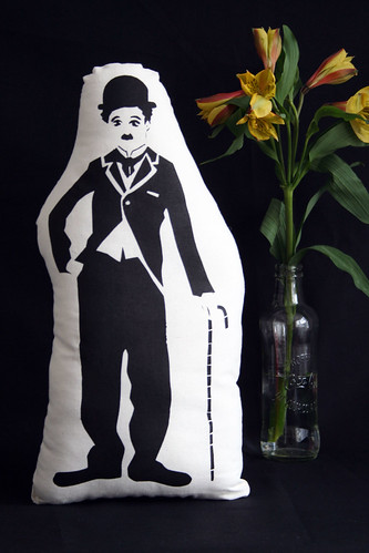 Hand Screen Printed Plush Chaplin as The Little Tramp