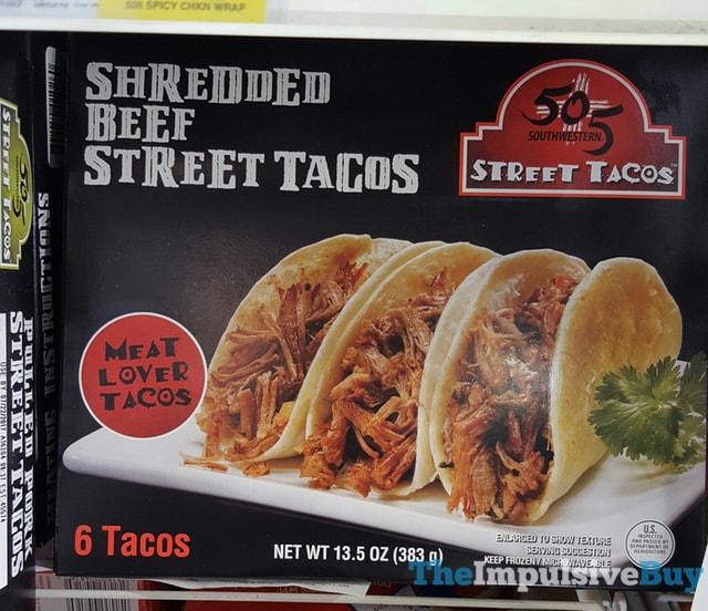 505 Southwestern Shredded Beef Street Tacos