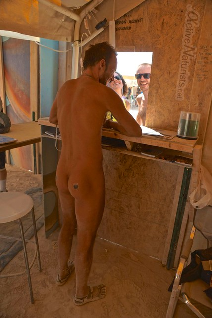 naturist 0077 Post Office, Burning Man 2012, Black Rock City, NV, USA