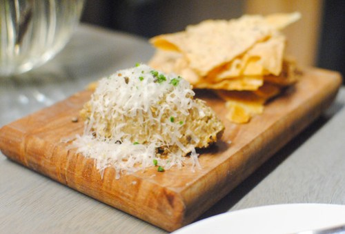 porcini dip with rosemary buttermilk cracker