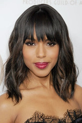 Kerry Washington wiht bangs and waves