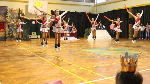 Aerobics team demonstration
