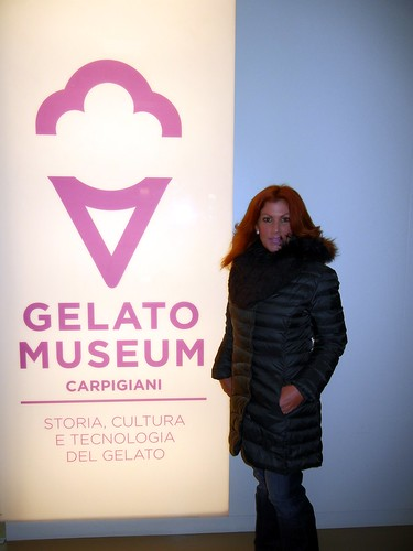 Denise touring the Carpigiani Gelato Museum
