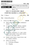 UPTU MCA Question Papers - MCA-406 - Computer Graphics & Animation