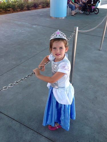 Cinderella waits for the bus
