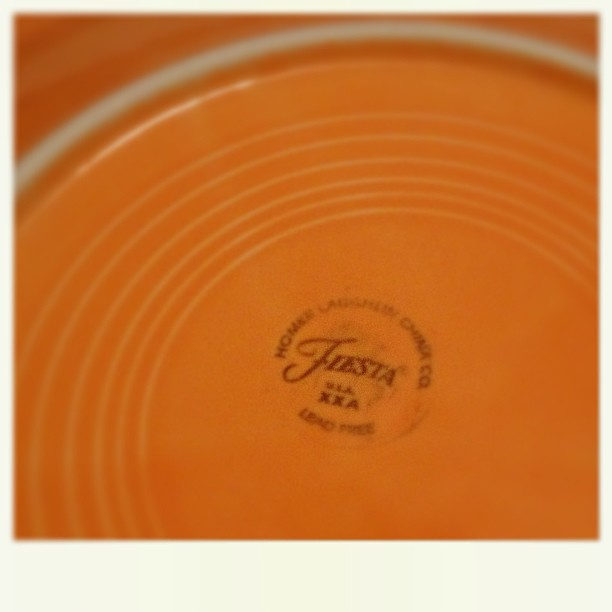 April 8 - on my plate {genuine Fiesta ware} #fmsphotoaday #fiestaware #plate