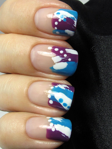 Abstract French manicure variation :)